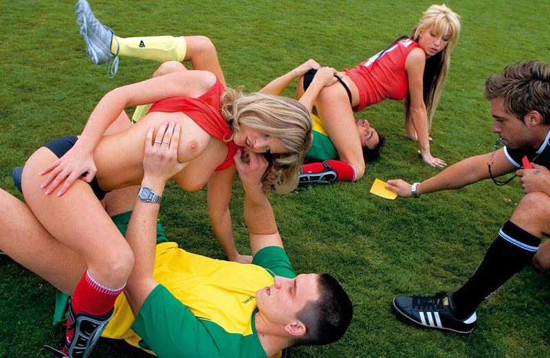 Фанаты трахают футбольные