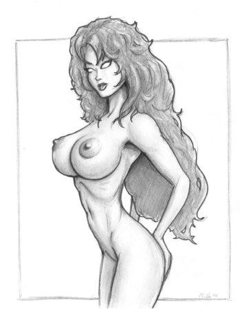 Много нарисованных девушек с большими сиськами бесплатно