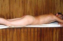 Секс с массажисткой в бане