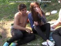 Анал с русской студенткой в палатке