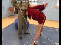 Отсос в жёсткой растяжке верёвками