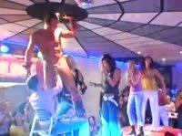 Длинная сексуальная вечеринка с мужским стриптизом
