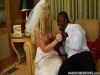 Свадебный межрасовый секс с невестой