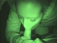 Оральное видео при ночной съемке