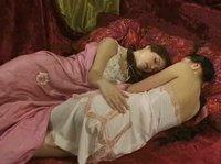 Русские лесбиянки валяются на кровати