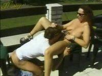 Вагинальный и оральный секс на террасе