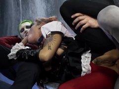 Горячая ебля Джокера и Харли с Бэтмэном